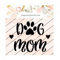 Dog mom cookie stencil JB515