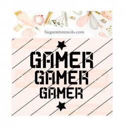 Gamer cookie stencil JB520