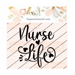 Nurse life cookie stencil...