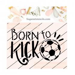 Soccer cookie stencil JB524