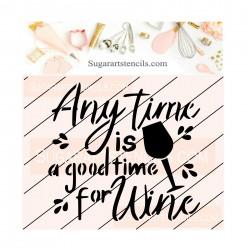 Wine words cookie stencil...