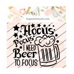 Hocus Pocus beer cookie...