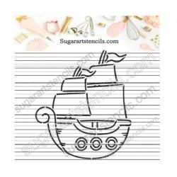 Pirate ship PYO cookie...