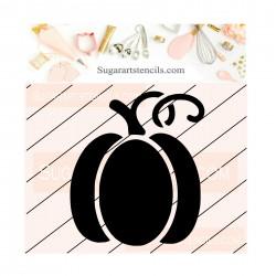 Pumpkin cookie stencil fall...