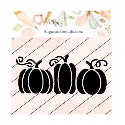 Pumpkins cookie stencil...
