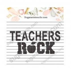 Teachers rock cookie...
