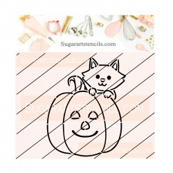 Cat pumpkin PYO cookie...