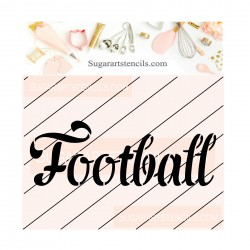 Football cookie stencil JB441