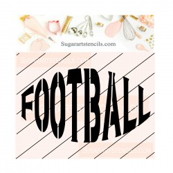 Football cookie stencil JB448