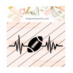 Football cookie stencil JB451