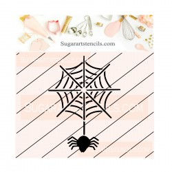 Spiderweb cookie stencil...