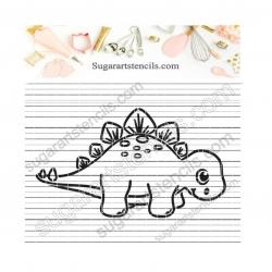 Baby dinosaur Stegosaurus...