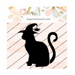 Halloween black cat cookie...