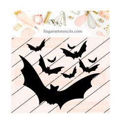 Bats cookie stencil...