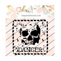 Skull danger sign cookie...