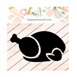 Turkey cookie stencil...