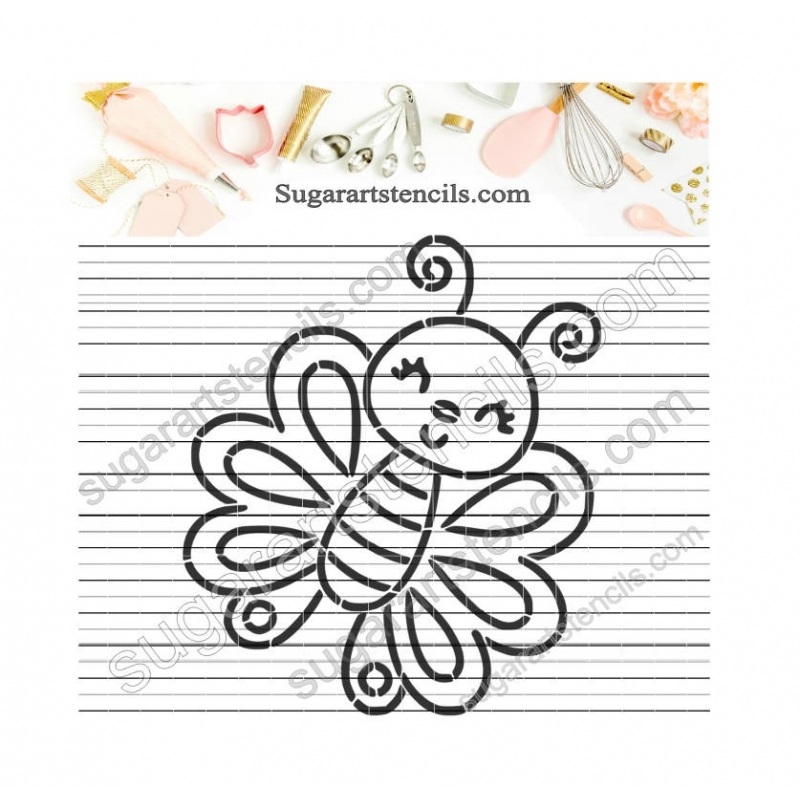 Butterfly PYO Cookie Stencil Paint Your own ST00225
