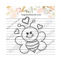 Bee PYO cookie Stencil ST00143