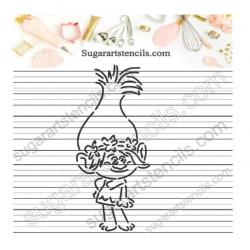 Trolls PYO Cookie stencil...