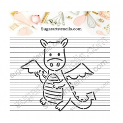 Dragon PYO cookie stencil...