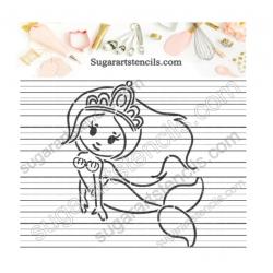 Mermaid PYO cookie stencil...