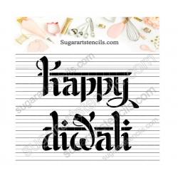 Happy Diwali cookie stencil...