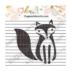 Fox kids cookie  stencil...