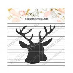 Deer head cookie stencil...