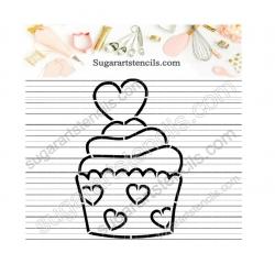 Cupcake PYO cookie stencil...