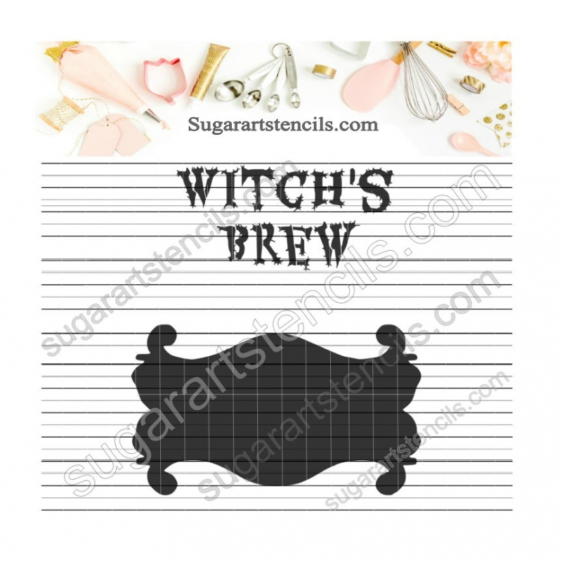Potion Label Witch S Brew Cookie Stencil Nb900820