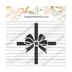 Bow cookie stencil NB700283