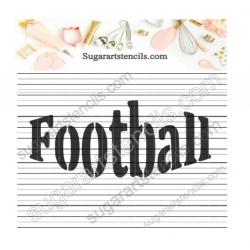 Football word sport Cookie...