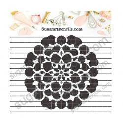 Cookie stencil floral...