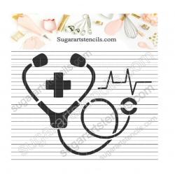 Nurse stethoscope cookie...