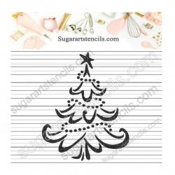 Christmas tree stencil LTW71
