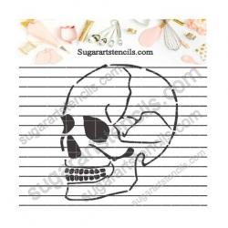 Skull cookie stencil NB700386