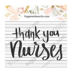 Thank you Nurses word...
