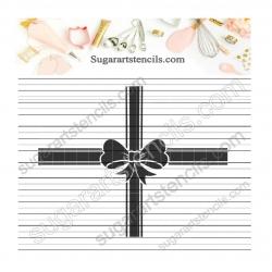 Gift bow stencil LTW101