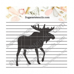 Moose cookie stencil LTW82