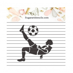 Soccer player sport cookie...