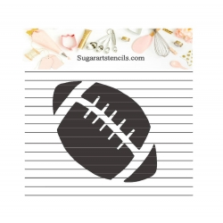 Football sport ball cookie...
