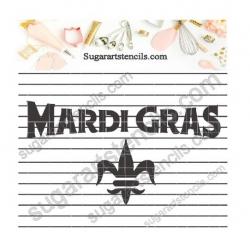 Mardi Gras cookie stencil...