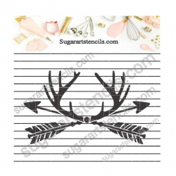 Arrows deer antlers cookie...