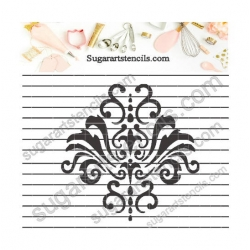 Damask cookie stencil  NB1167