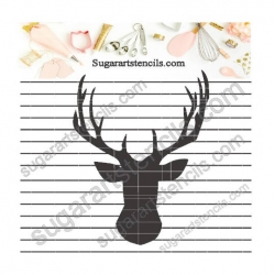 Deer head cookie stencil...