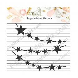 Stars garland burlap banner...