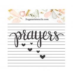 Cookie stencil prayers...