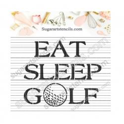 Golf cookie stencil words...