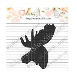 Moose head cookie stencil...