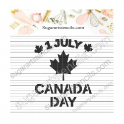 Canada day cookie stencil...